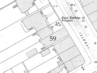 Another map section showing the same area three decades later.  Number 59 now extends all the way to the road over where the front garden used to be.